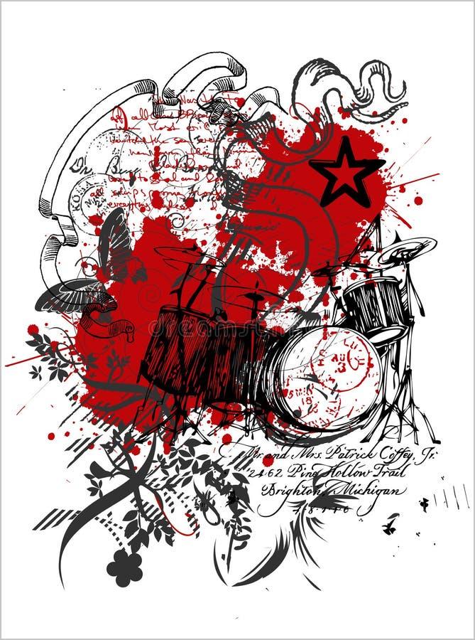 ILUSTRACIONES de la impresión de la camiseta libre illustration