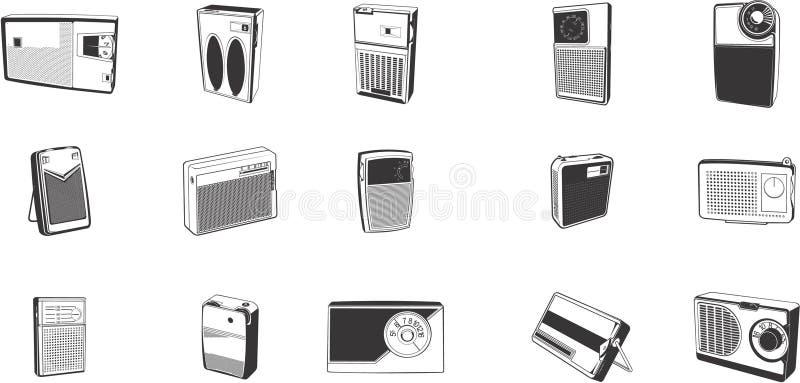 Ilustraciones de radios retras libre illustration