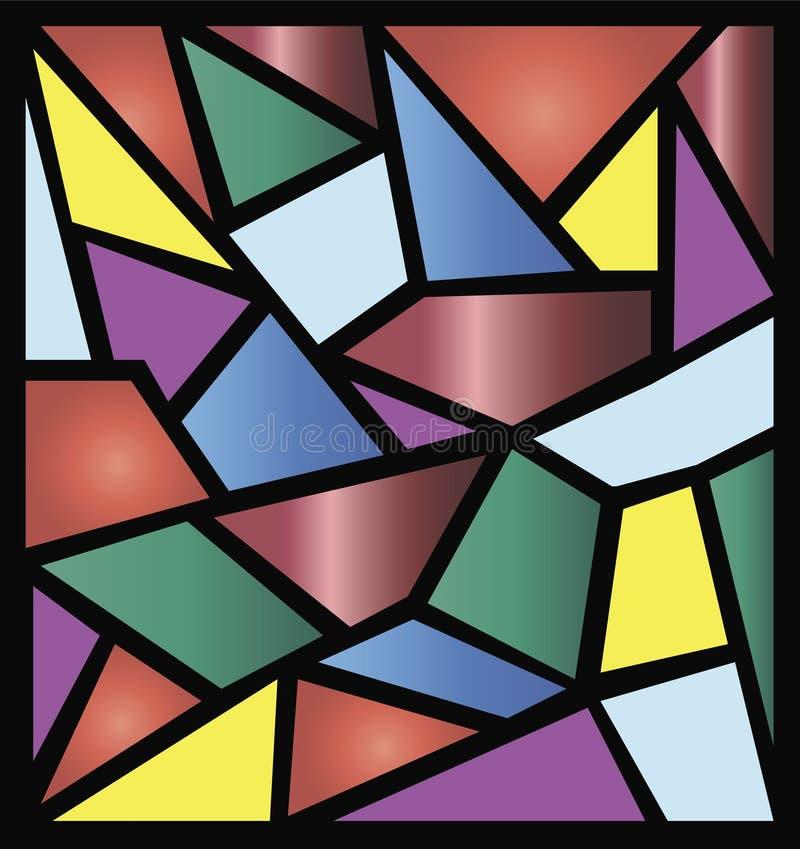 Ilustraciones del vidrio manchado ilustración del vector