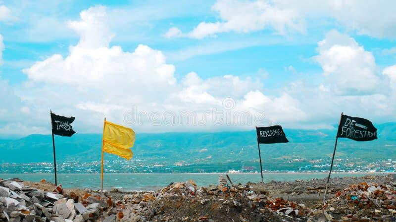 Ilustraciones después del tsunami fotografía de archivo libre de regalías