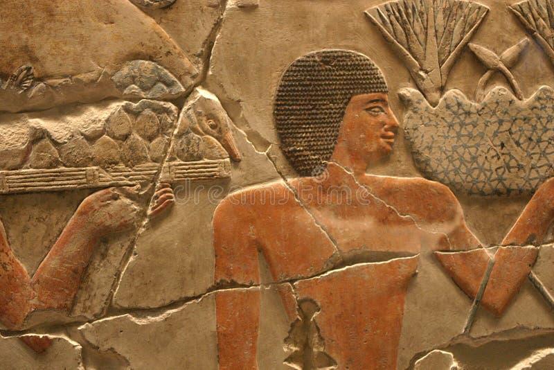 Ilustraciones egipcias del templo foto de archivo