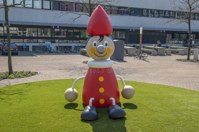 Ilustraciones en el edificio libre del campus universitario en Amsterdam los Países Bajos 2019 fotos de archivo libres de regalías