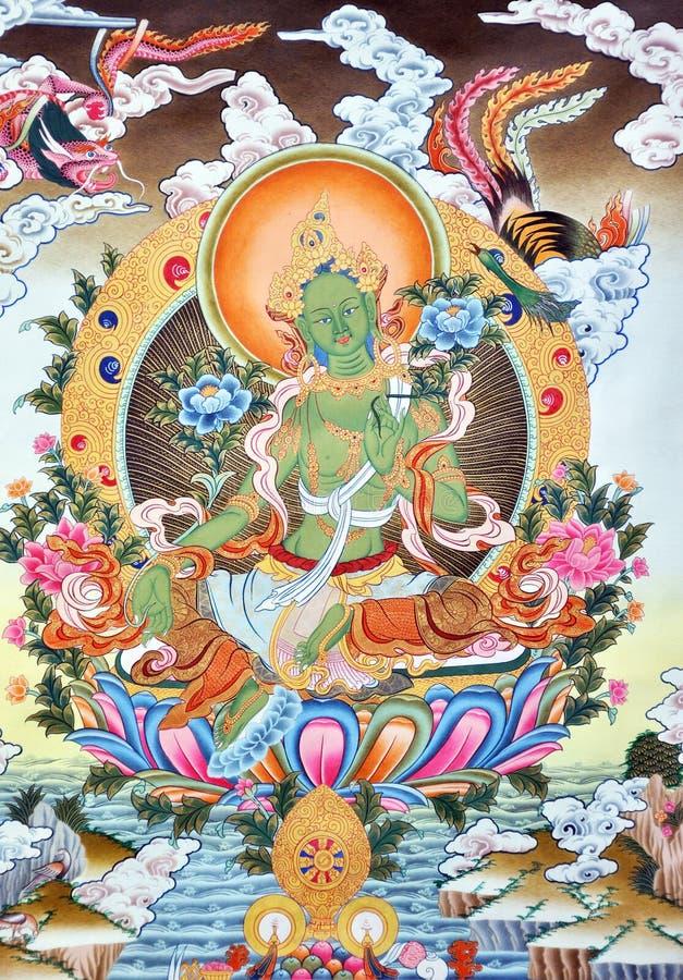 Ilustraciones en la cultura de Tíbet fotografía de archivo
