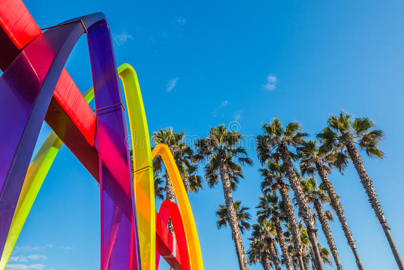 Ilustraciones en la playa imperial Pier Plaza imagen de archivo libre de regalías