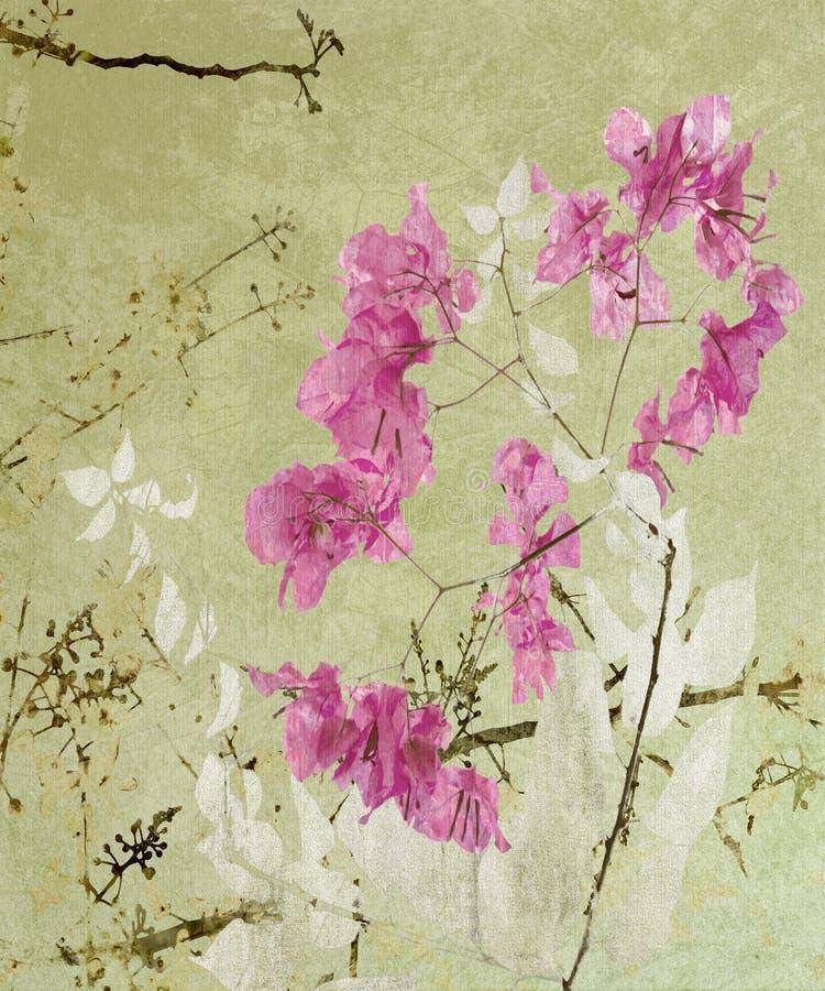 Ilustraciones florales del estilo de la caligrafía fotografía de archivo libre de regalías