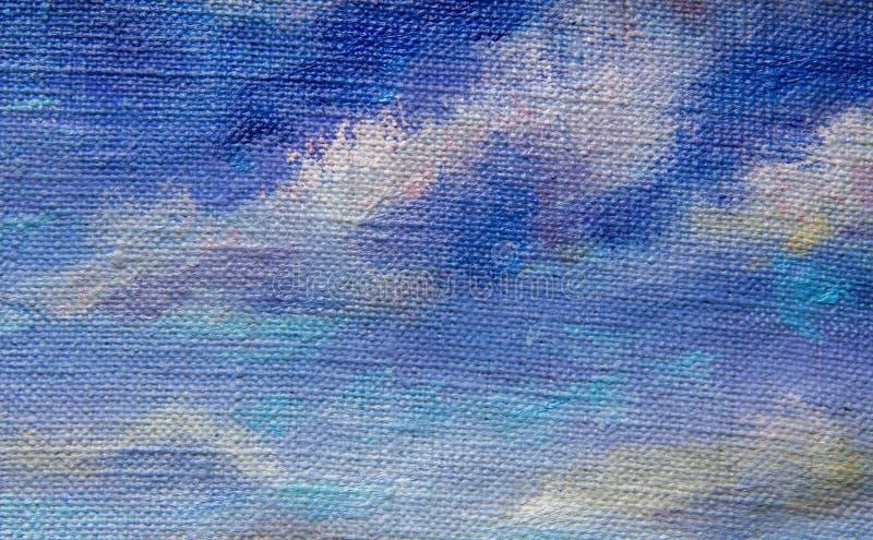 Ilustraciones púrpuras violetas azules del ejemplo del arte del cielo del backgroud abstracto de la textura foto de archivo