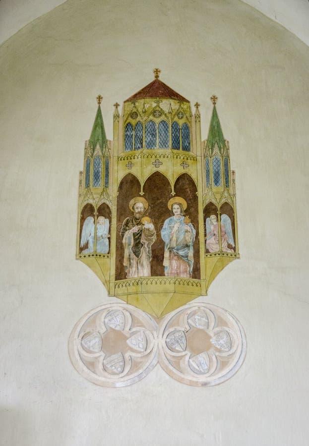 Ilustraciones y escudos de armas medievales imágenes de archivo libres de regalías