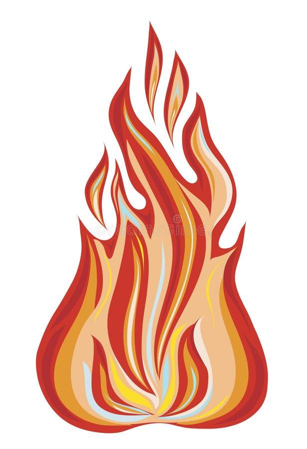 ilustrację płomieni royalty ilustracja