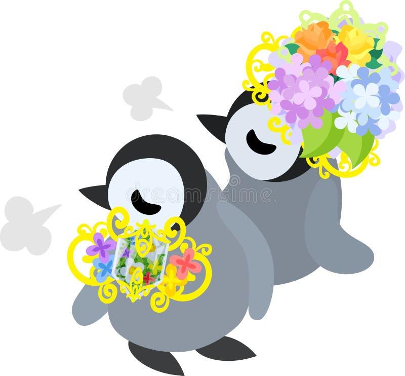 Ilustracja ładny pingwinu dziecko ilustracji