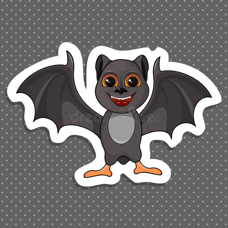 Ilustracja Ślicznej kreskówki nietoperza Halloweenowy latanie ilustracja wektor