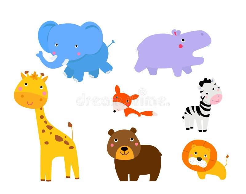 Ilustracja śliczni zwierzęta inkasowi royalty ilustracja