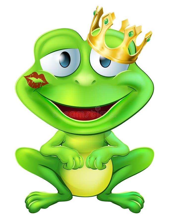 Całujący żaby książe ilustracji