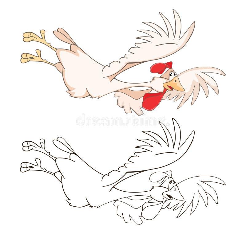 Ilustracja Śliczny Cockerel tła postać z kreskówki zuchwałych ślicznych psów szczęśliwa głowa odizolowywał uśmiechu biel książkow royalty ilustracja