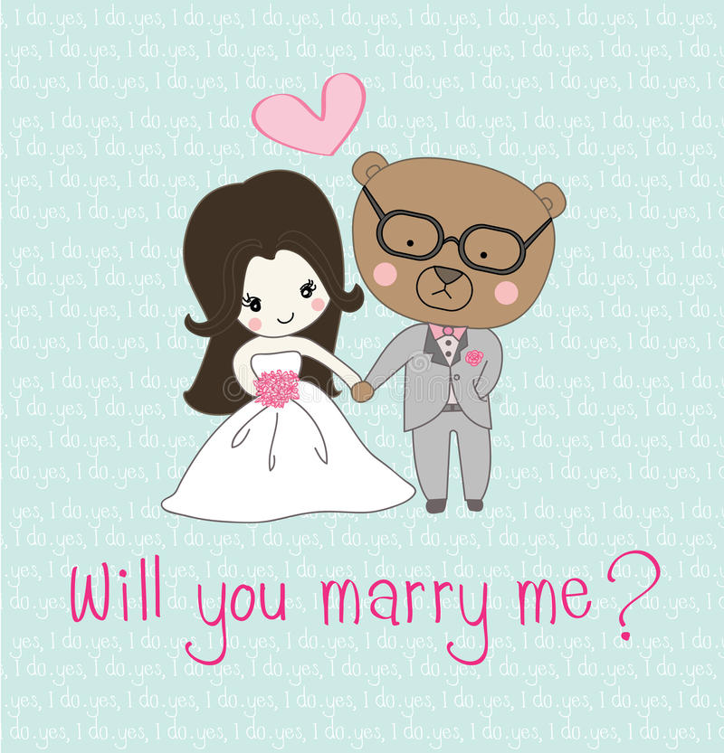 Ilustracja ślubny zaproszenie zdjęcia stock