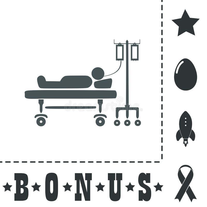 Ilustracja życie ikony, hospitalizująca royalty ilustracja