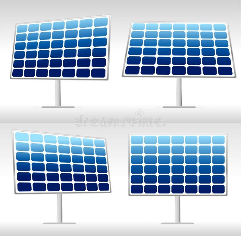 Ilustracja 4 panel słoneczny royalty ilustracja