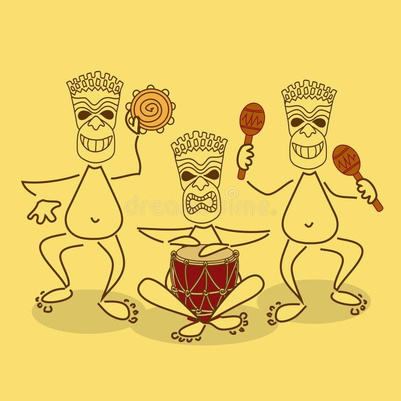 Ilustracja aborygenu zespół ilustracji