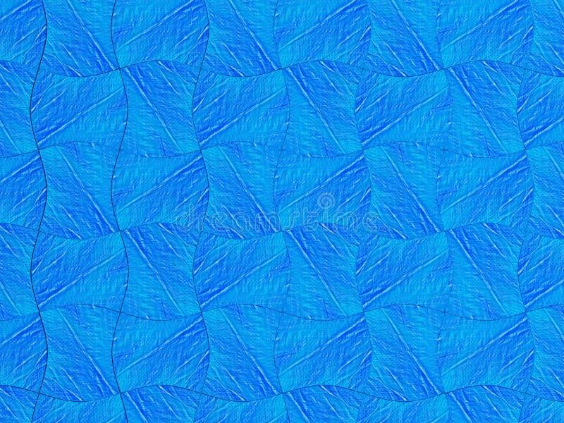Ilustracja abstrakcjonistyczny błękitny tło lub boże narodzenia tapetujemy z jaskrawym centrum światłem reflektorów royalty ilustracja