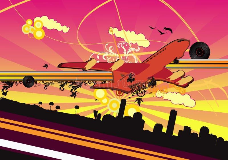 ilustracja abstrakcjonistyczny samolotowy wektor ilustracja wektor