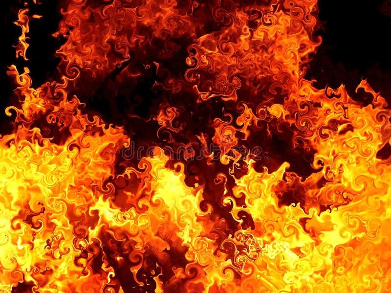 Ilustracja abstrakcjonistyczny wizerunek ognisty płomień ilustracja wektor