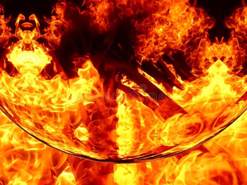 Ilustracja abstrakcjonistyczny wizerunek ognisty płomień royalty ilustracja