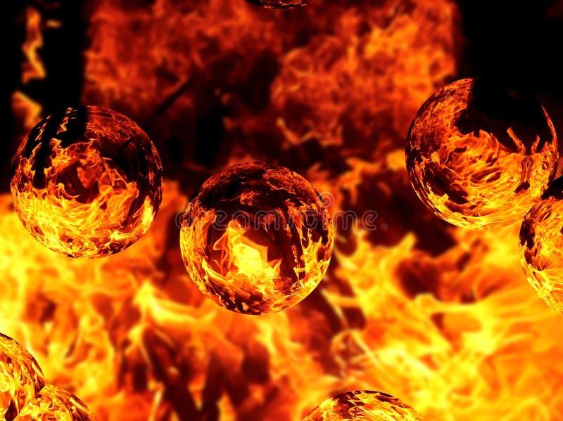 Ilustracja abstrakcjonistyczny wizerunek ognisty płomień ilustracji