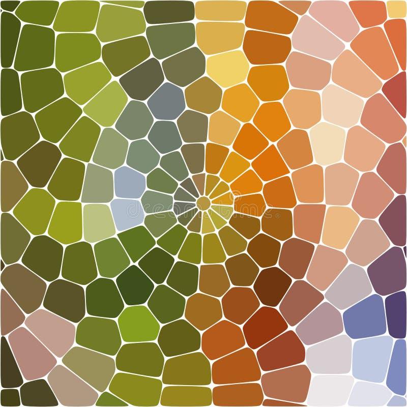 ilustracja abstrakcyjna Stubarwny Geometryczny wzór mozaiki tapeta dla tła, tekstura, tkanina, ornament lub royalty ilustracja