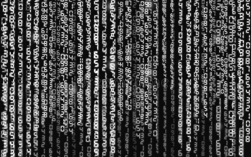 ilustracja abstrakcyjna Wektor leje się binarnego kodu tło zdjęcie stock