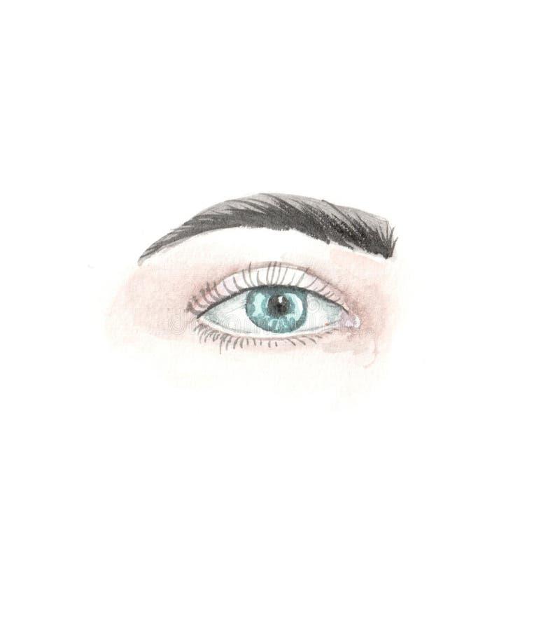 Ilustracja akwareli oczy ilustracji
