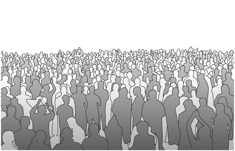 Ilustracja ampuły masa ludzie w perspektywie ilustracja wektor