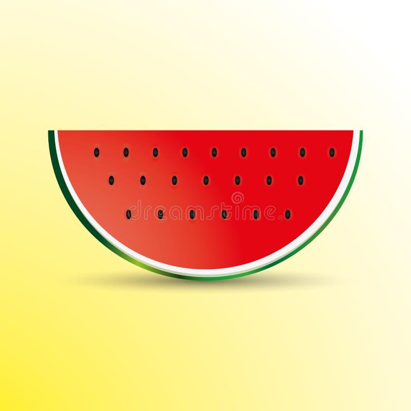 Ilustracja arbuza plasterek zdjęcia stock
