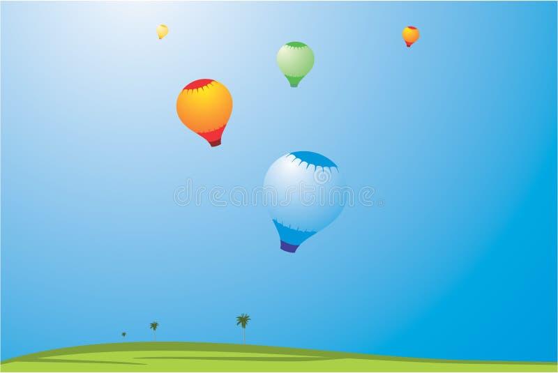 ilustracja balon powietrza ilustracja wektor