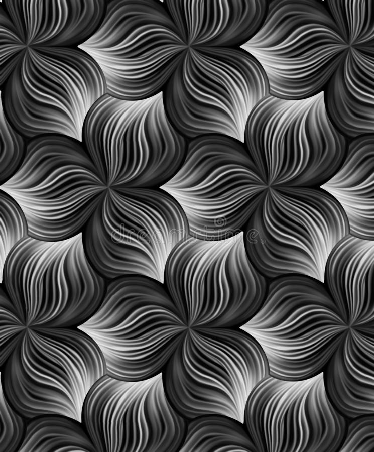 Ilustracja bezszwowy abstrakcjonistyczny czerń Niekończący się wzór może używać dla ceramicznej płytki, tapeta, linoleum, tkanina royalty ilustracja