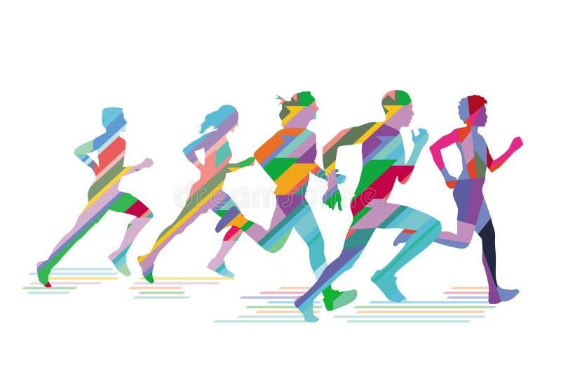 Ilustracja biegacze i joggers ilustracji