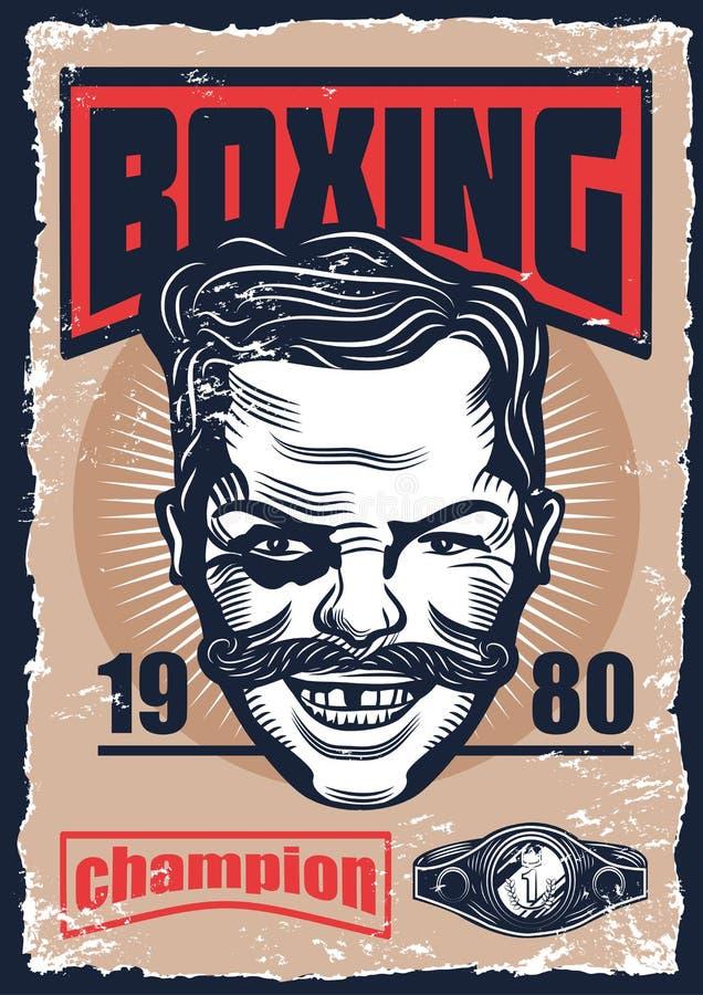 Ilustracja boks, rocznika plakat royalty ilustracja