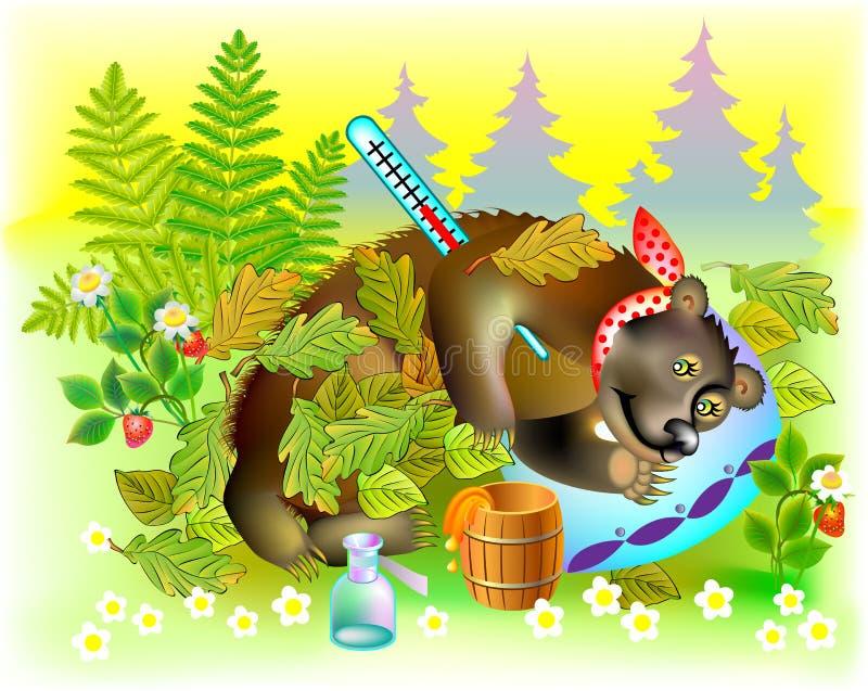 Ilustracja bolączka niedźwiedź ilustracji