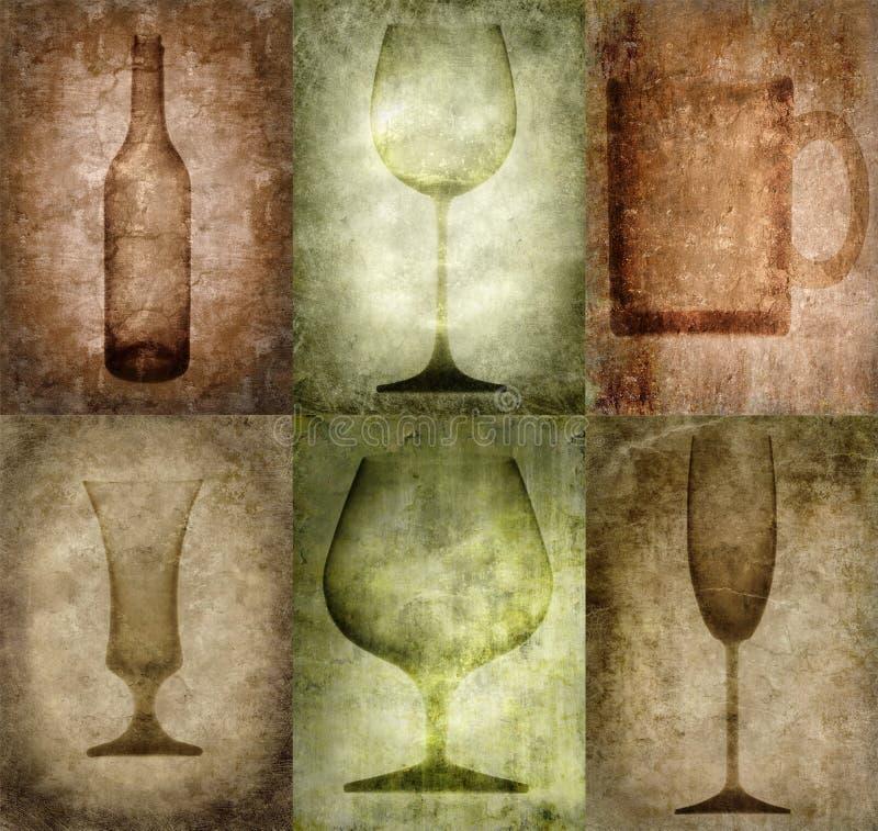 ilustracja butelek okularów crunch royalty ilustracja