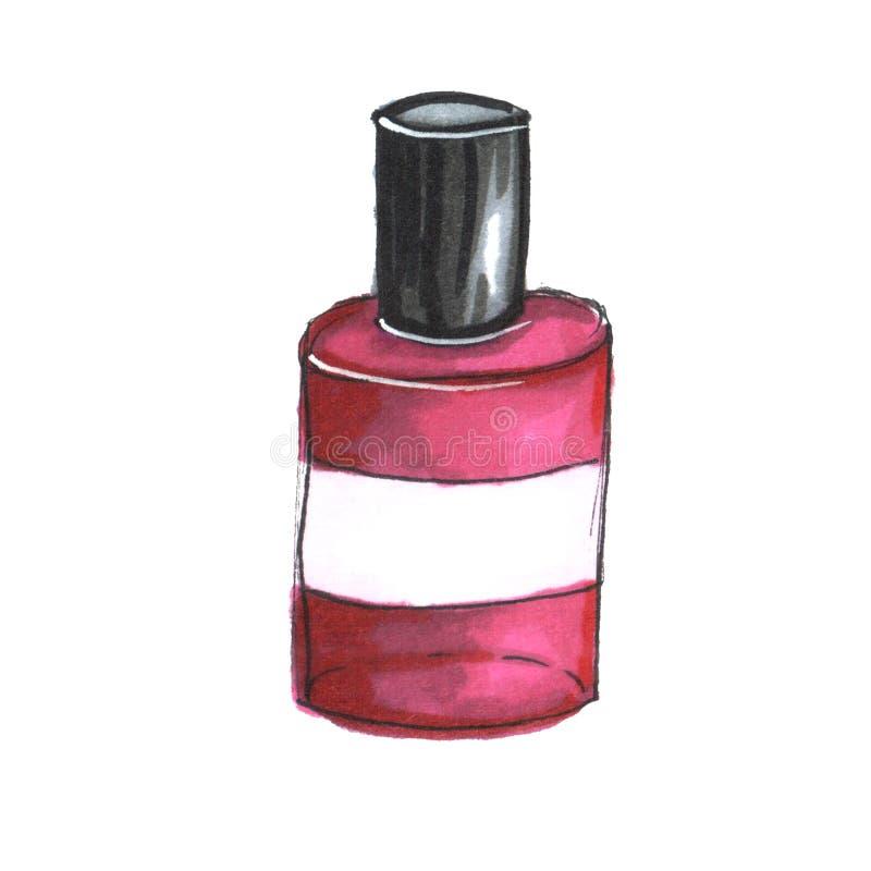 Ilustracja butelka gwoździa połysk ilustracji
