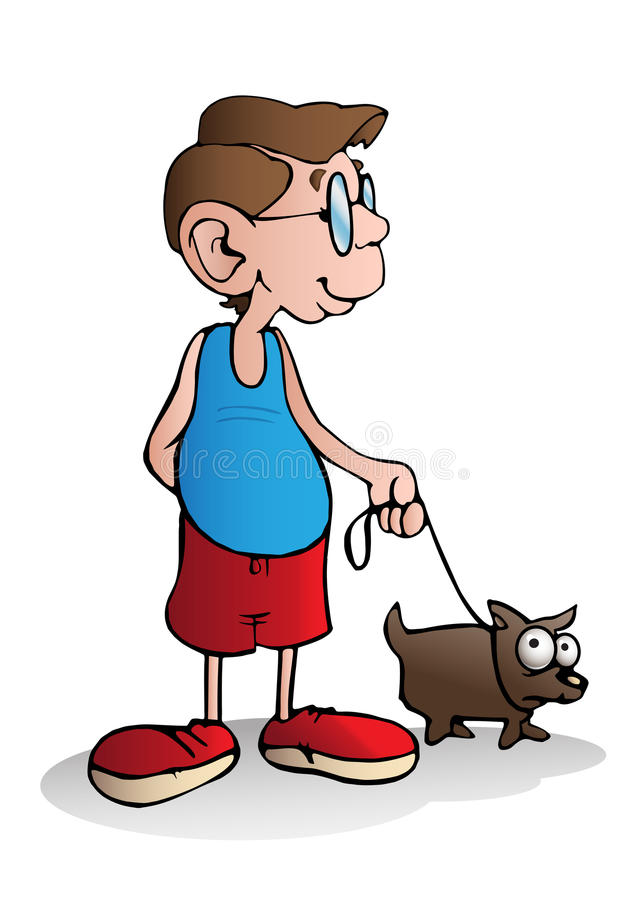 Psi właściciel ilustracji