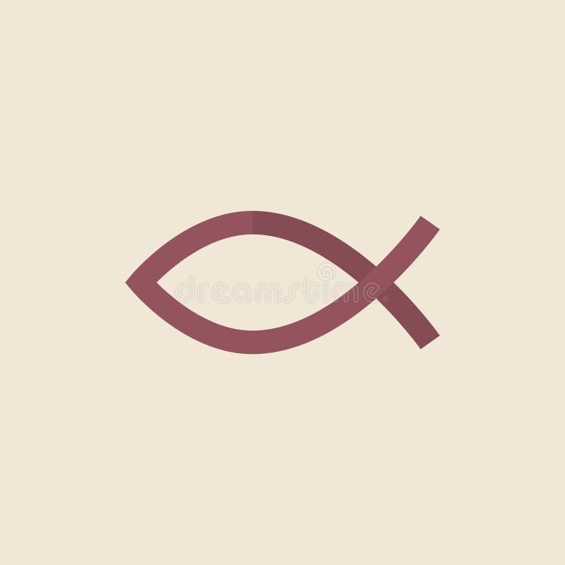 Ilustracja Chrześcijański rybi symbol ilustracja wektor