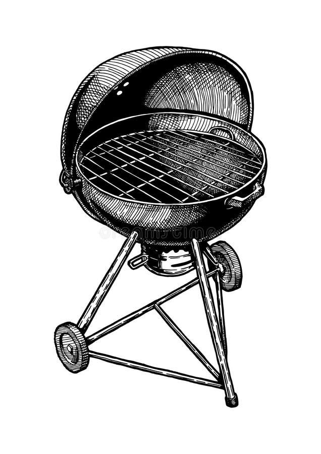 Ilustracja czajnika grill ilustracji
