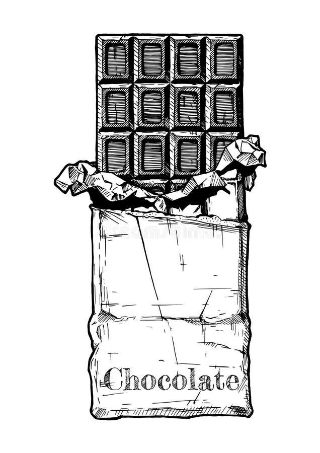Ilustracja czekoladowy bar ilustracji