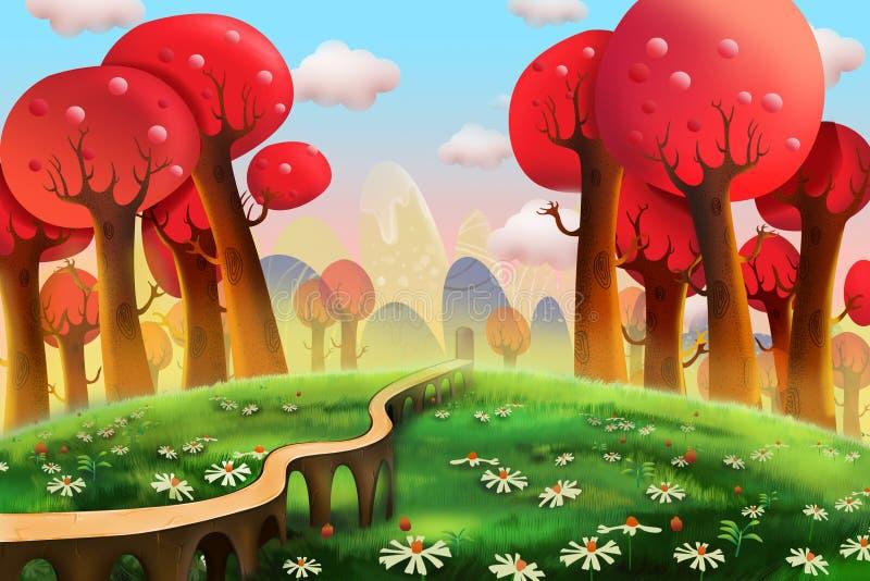 Ilustracja: Czerwoni drewna royalty ilustracja