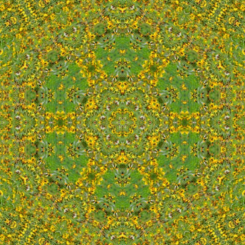 ilustracja 3 d Abstrakcjonistyczny wizerunek łąkowi kwiaty ilustracja wektor