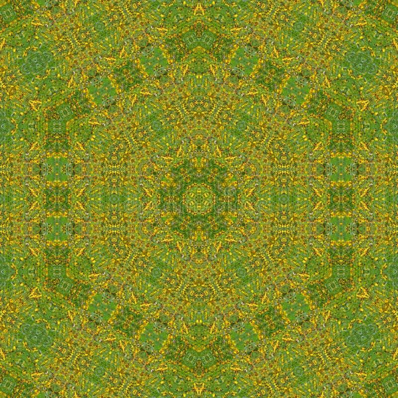 ilustracja 3 d Abstrakcjonistyczny wizerunek łąkowi kwiaty royalty ilustracja
