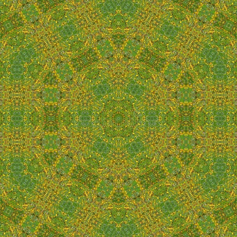 ilustracja 3 d Abstrakcjonistyczny wizerunek łąkowi kwiaty ilustracji