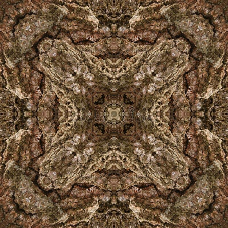 ilustracja 3 d Abstrakcjonistyczny wizerunek drewniana powierzchnia barkentyna drzewo royalty ilustracja