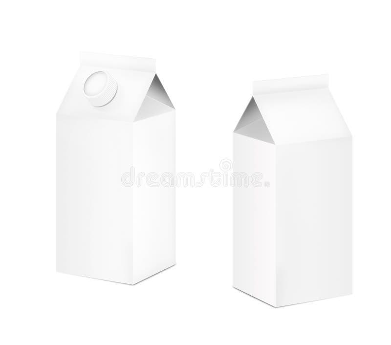 ilustracja 3 d Mleko pudełka z deklem Detalicznego pakunku mockup set obraz royalty free