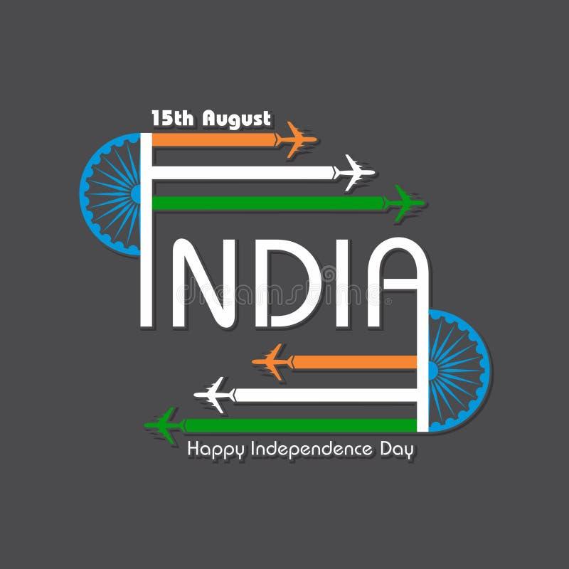 Ilustracja dla dnia niepodległości ind royalty ilustracja