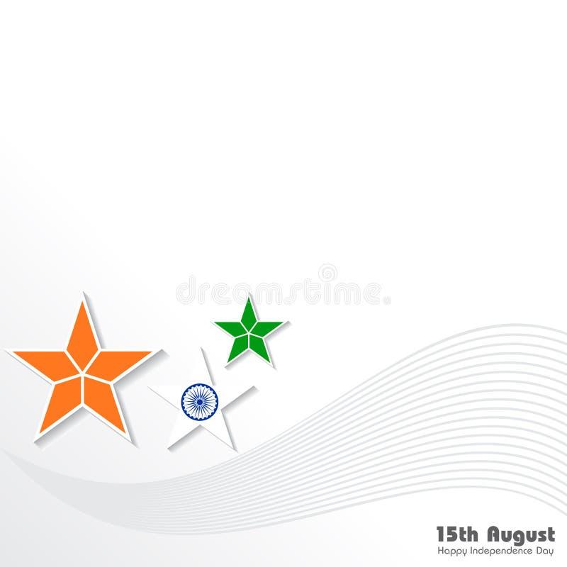 Ilustracja dla dnia niepodległości ind ilustracja wektor